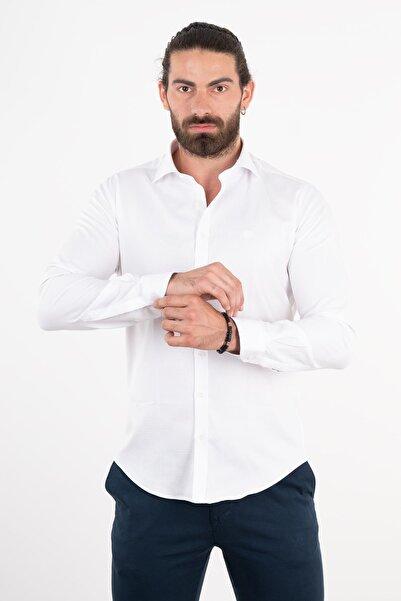 Sabri Özel Dokulu Regular Fit Gömlek