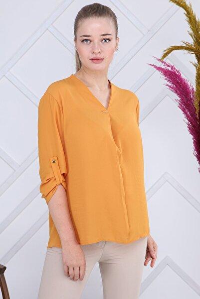 Modayız Hardal Bluz G6-1193