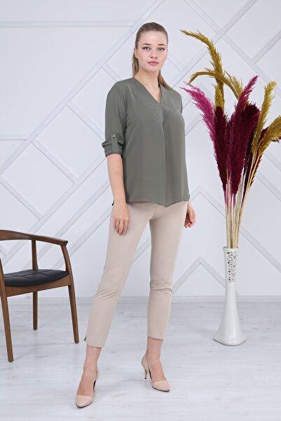 Modayız Haki Bluz G6-1192
