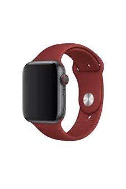 Fitbit Apple Watch Silikon Kordon 42\44mm Bordo