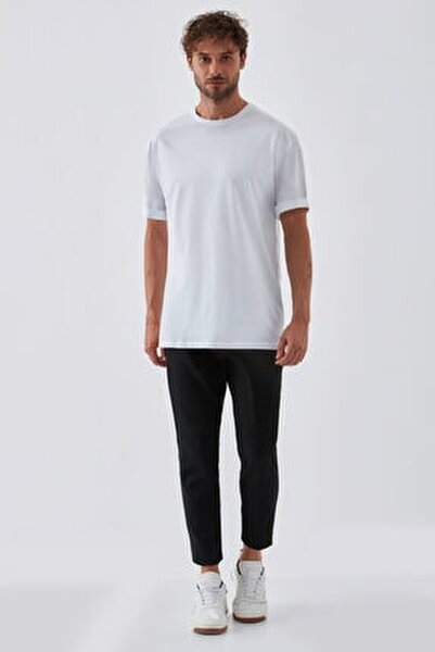 Erkek Beyaz Basic T-shirt
