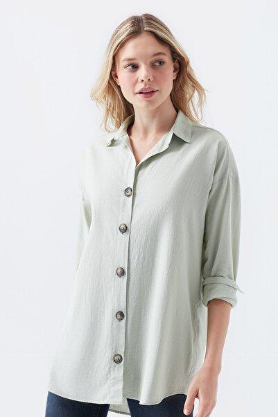 Mavi Kadın Uzun Kollu Yeşil Gömlek 122385-32131