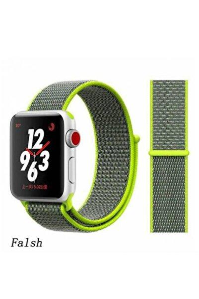 Gate Desenli Apple Watch Kayış 1 2 3 4 5 Için 40mm 42mm 44mm Nike Loop Flash Yellow