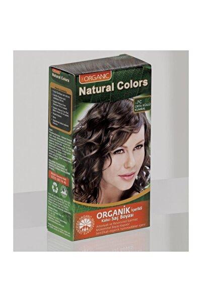 Organic Natural Colors 7c Orta Küllü Kumral Organik Saç Boyası