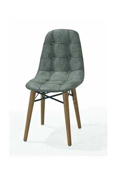 AVVİO Ahenk Ahşap Ayaklı Mutfak Sandalyesi- Yeşil