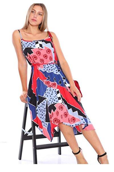 zeynep Kadın Çok Renkli Askılı Elbise