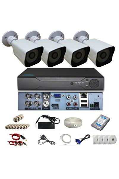 OEM 4 Kameralı Ahd 5 Mp Sony Lensli Full Hd Kamera Sistemi Seti 1 Tb