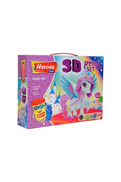 HEROES Ern-569 3d Kalıplı Pony Oyun Hamuru Seti