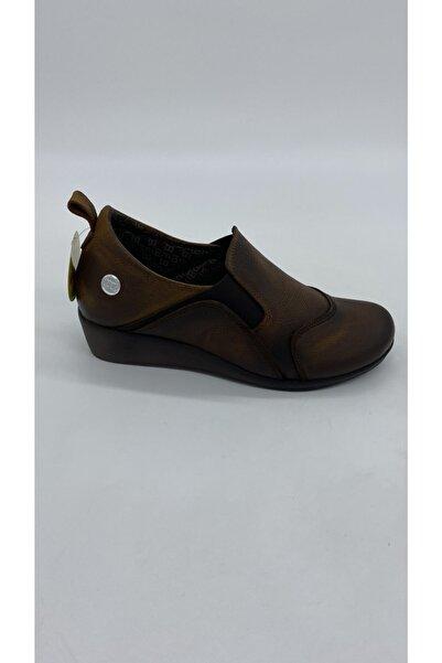 Kadın Taba Nubuk Dolgu Günlük Ayakkabı