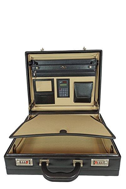 BESE Bond Çanta 10 Cm Körüklü Evrak Deri Kaplama