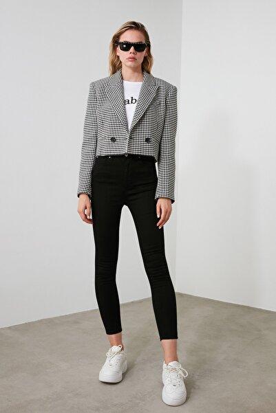Siyah Yüksek Bel Skinny Jeans TWOSS19LR0279