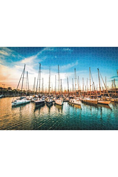 NATURA PUZZLE / Barselona Limanı Günbatımı / 1000 Parça / Yapboz
