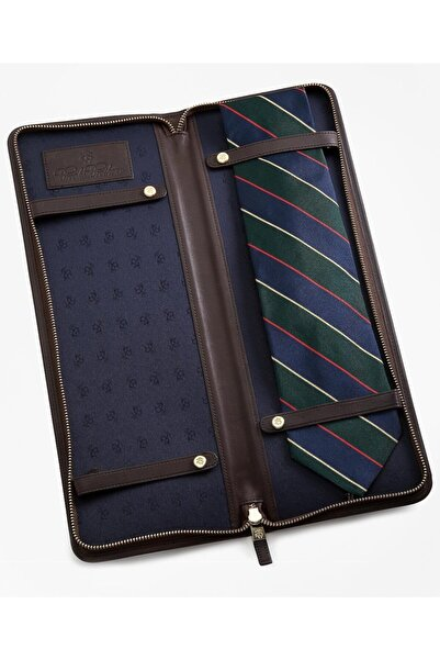 BROOKS BROTHERS Slg Lthr Tıe Case Brwn