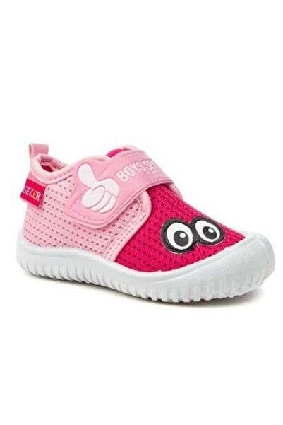 GEZER Çocuk Pembe Keten Anaokulu Kreş Ayakkabısı