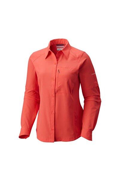 Columbia Kadın Kızmızı Sılver Rıdge Long Sleeve Shırt Uzun Kollu Gömlek  Al7079