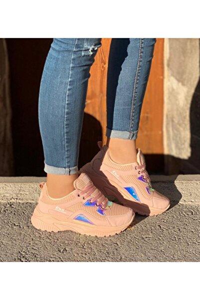 Almera Kadın Pudra Pembe Renkli Spor Sneaker