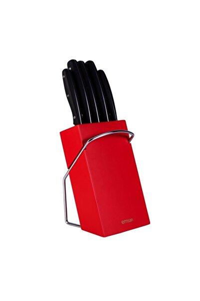 Kırmızı Mia Bıçak Seti 6 Parça