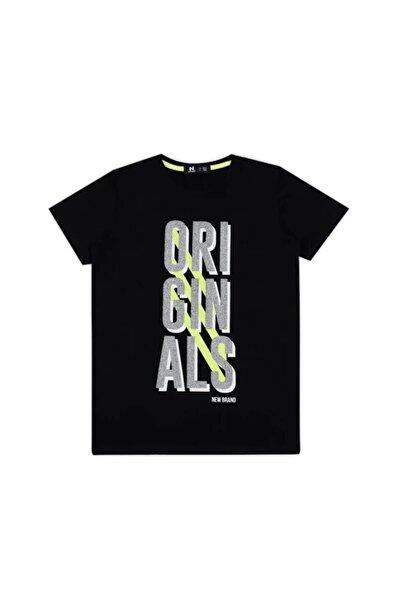 New Brand Erkek Çocuk Siyah T-shirt 02299