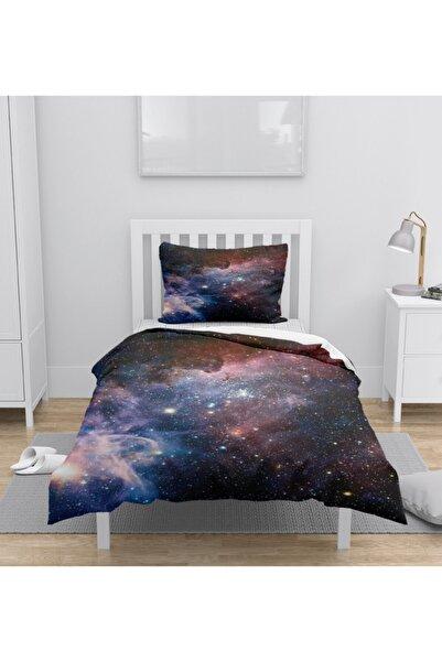 Osso Halı Osso Uzay Galaksi 3d Desenli Tek Kişilik Nevresim Takımı
