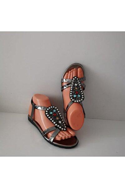 Primo  Kadın Taşlı Günlük Şık Sandalet