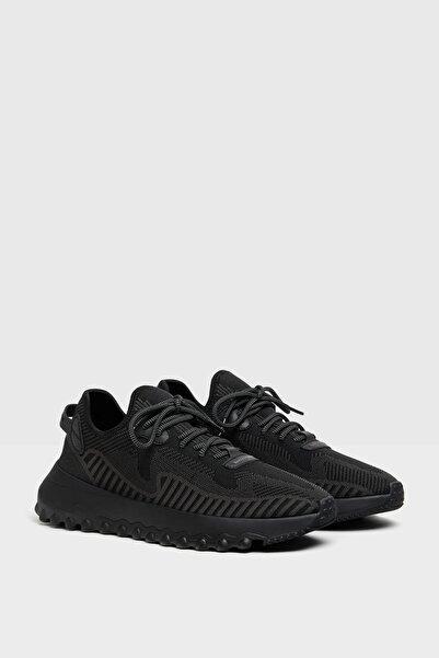 Bershka Erkek Siyah Çorap Model File Spor Ayakkabı