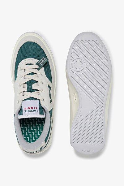G80 Og 120 1 Sfa Kadın Beyaz - Koyu Yeşil Deri Sneaker 739SFA0071
