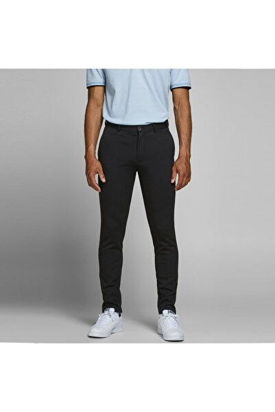Jack & Jones Erkek Siyah Dar Paça Pantolon 12173623-b
