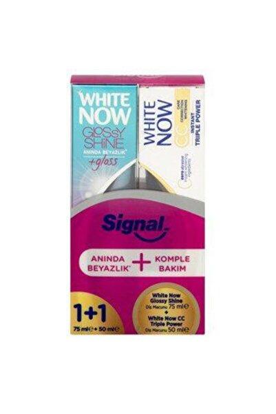 Signal White Now Glossy Shine Diş Macunu 75 Ml + White Now Cc Triple Power Diş Macunu 50 Ml