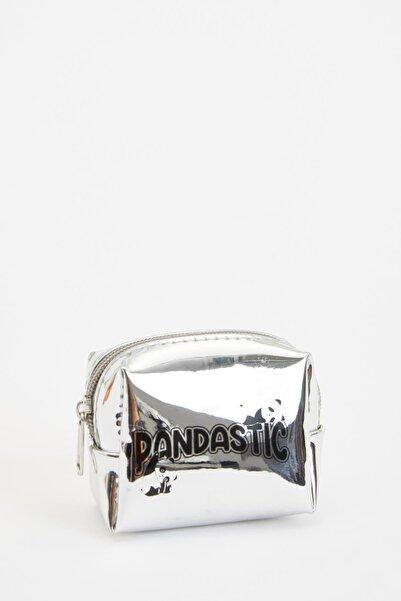 DeFacto Kadın Gümüş-120-08 Panda Baskılı Küçük Fermuarlı Çanta S4625AZ20WN