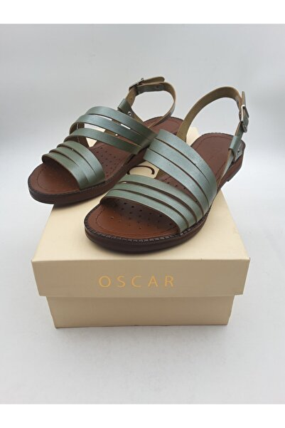 Oscar Kadın Yeşil İçi Dışı Deri Sandalet