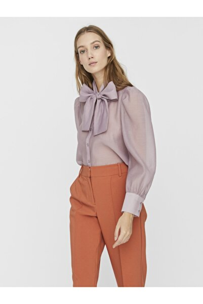 Vero Moda Kadın Lila Boyundan Fiyonklu Gömlek 10233882 VMBRIANA