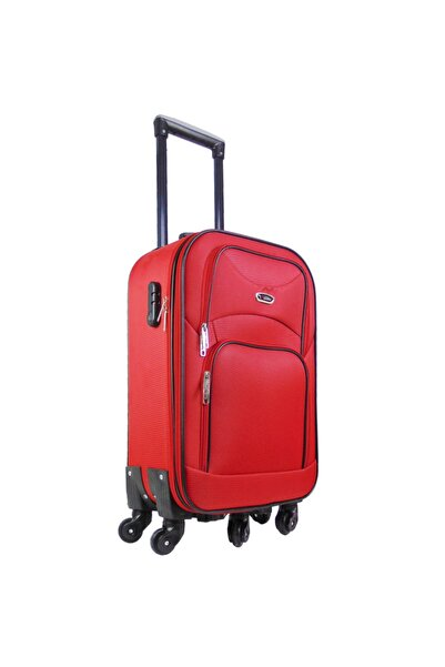 Laguna 5 Tekerli Kabin Boy Kırmızı Kumaş Valiz
