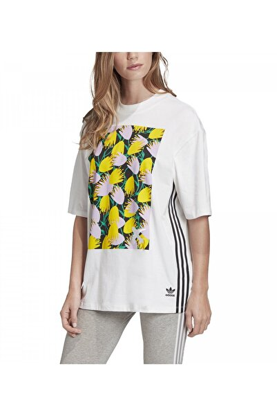 adidas Kadın Beyaz Desenli T-Shirt
