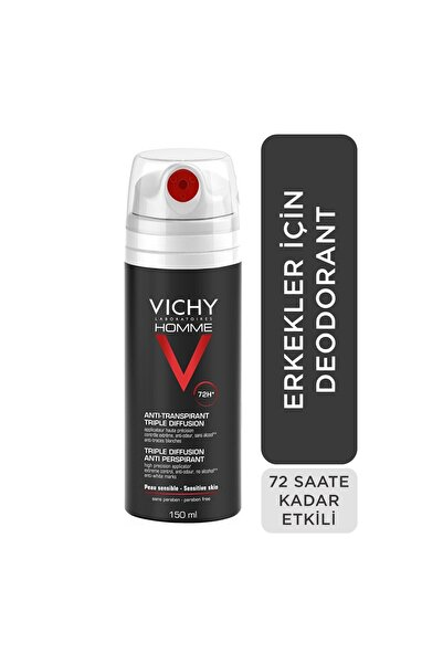 Vichy Erkekler İçin 72 Saat Terleme Karşıtı Etkili Deodorant 150 ml 3337871331405