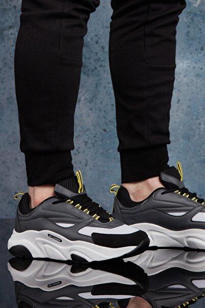DARK SEER Siyah Beyaz Erkek Sneaker DS.MJ1838