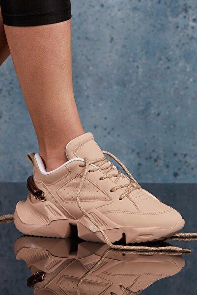 Bej Kadın Sneaker DS.MKA204