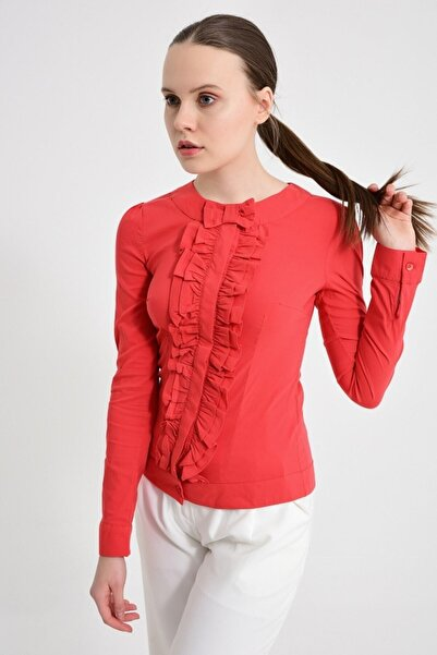 Sima Kadın Kırmızı Bluz Gömlek