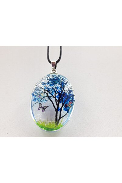 Trendyıldızı Yaşayan Mimosifolia Ağacı Büyük Boy Bayan Kolyesi