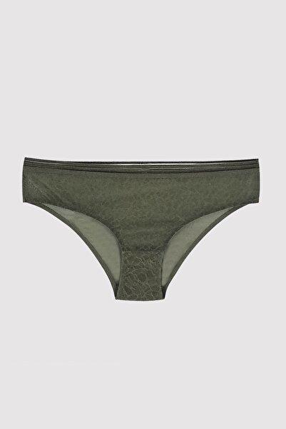 Pierre Cardin Kadın Burnt Olive 4670 Dantelli Tek Slip Külot