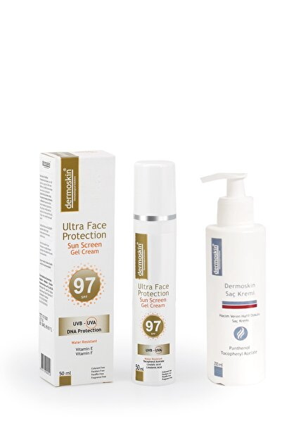 Dermoskin Ultra Face Protection SPF 97 + Dermoskin Saç Kremi Hediyeli  Avantaj Paket 200 ml