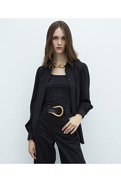 MISS IPEKYOL Kadın Siyah Oversize Gömlek