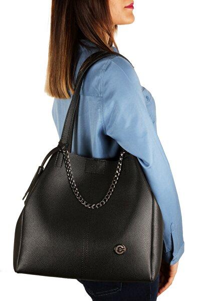 Kadın Siyah Omuz Çanta Lwe20099-s