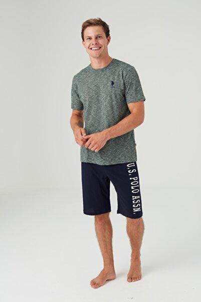 U.S. Polo Assn. Erkek Yeşil T-shirt Şort Takım