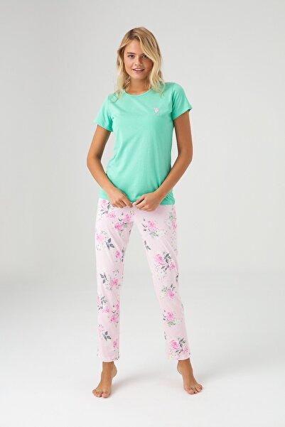 U.S. Polo Assn. Kadın Yeşil Pijama Takım