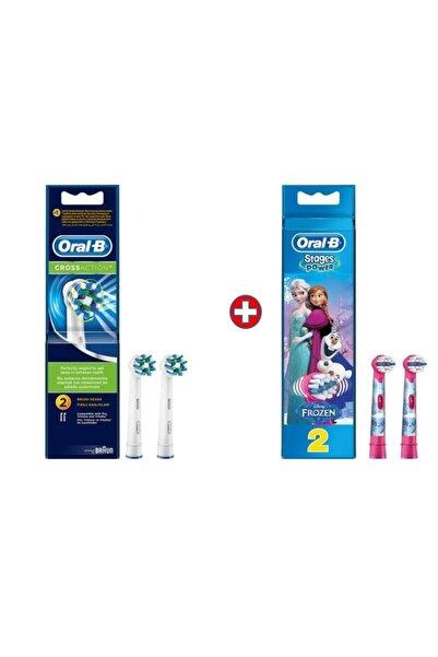 Oral-B Diş Fırçası Yedek Başlığı Cross Action 2'li+frozen 2 Li