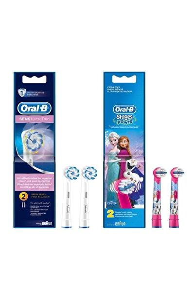 Oral-B Diş Fırçası Yedek Başlığı Sensi Ultrathin 2'li+frozen 2'li