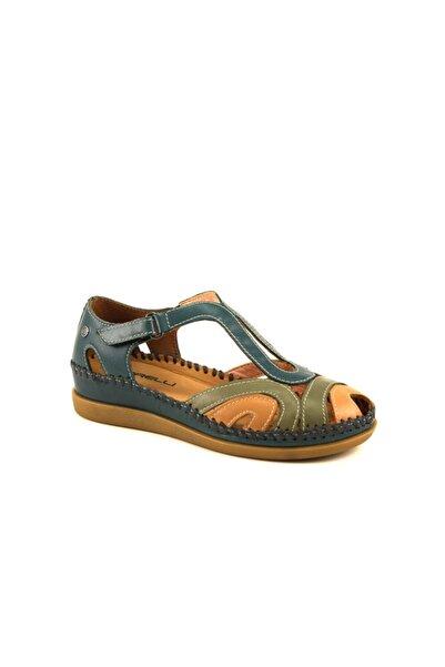 Forelli Kadın Mavi Hakiki Deri Sandalet 22521