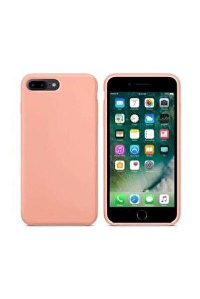 Apple Iphone 7 Plus -8 Plus Pembe Kadife Lansman Silikon Kılıf