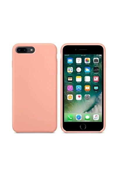 Apple Iphone 7 Plus -8 Plus Pembe Kadife Lansman Silikon Kılıf