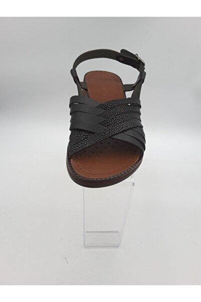 Oscar Kadın Siyah Içi Dışı Deri Sandalet